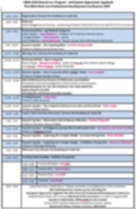 2020 AAA Conference Program - Run Sheet