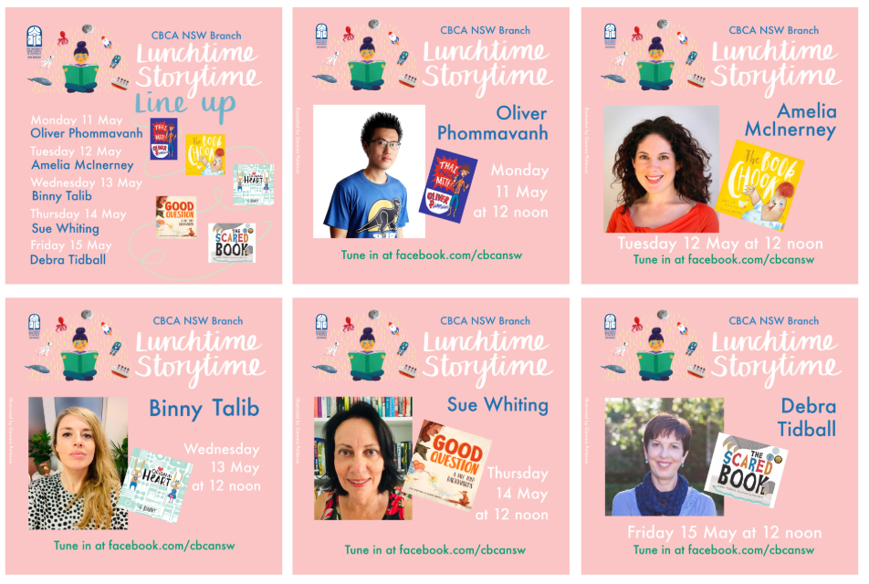 Lunchtime Storytime Live! Week 3 Line-up