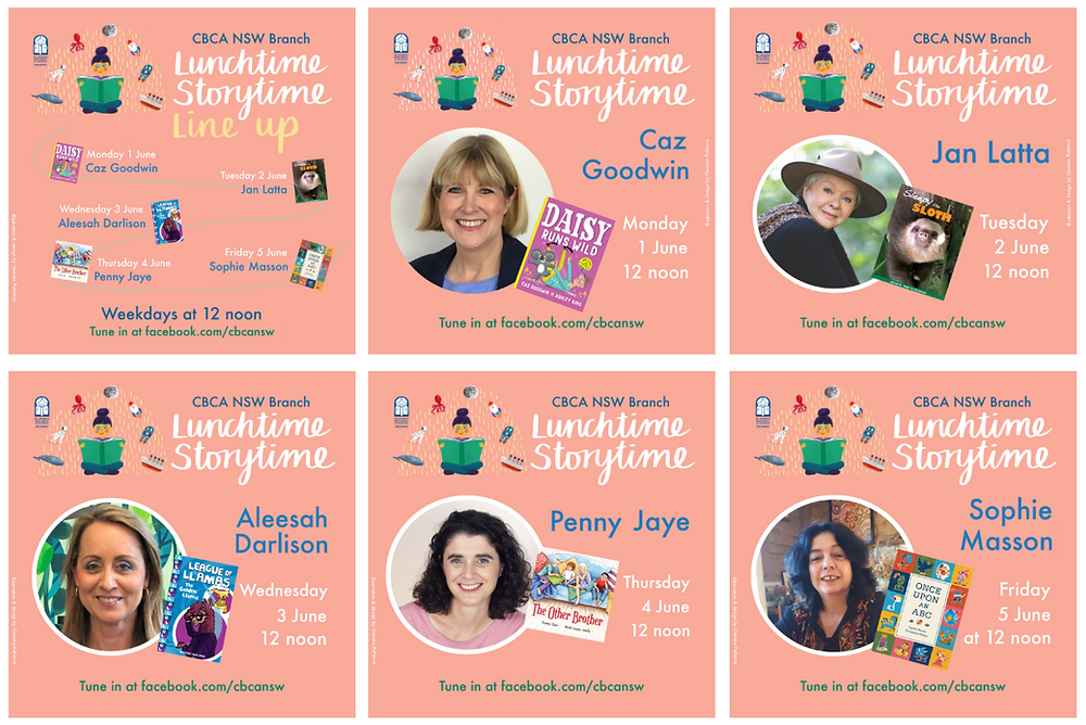 Lunchtime Storytime, Live! Week 6 Line up