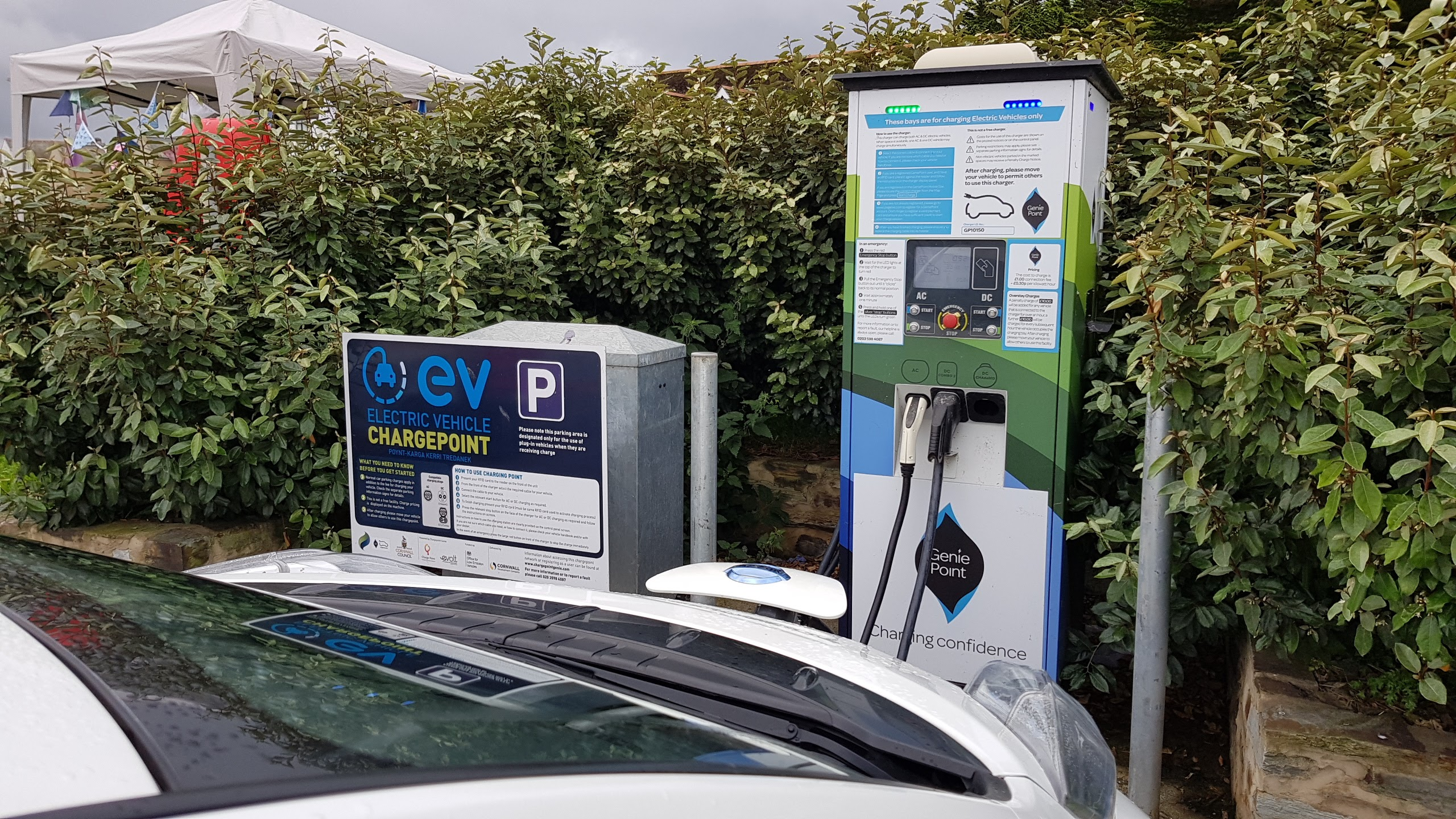 Charge Point Genie charger in Bude