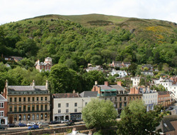Malvern Hills from the town