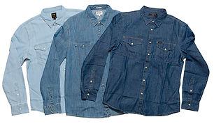 Lee & Wrangler cowboyskjorter