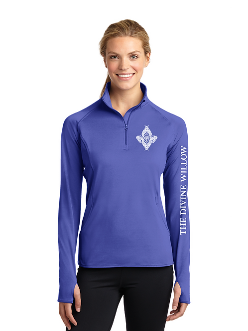 Sport-Tek Ladies Sport-Wick Stretch 1/2-Zip Pullover - The Divine Willow