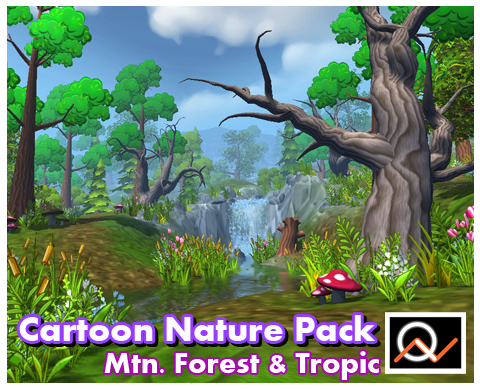 Cartoon Nature Pack 1 - $35.00