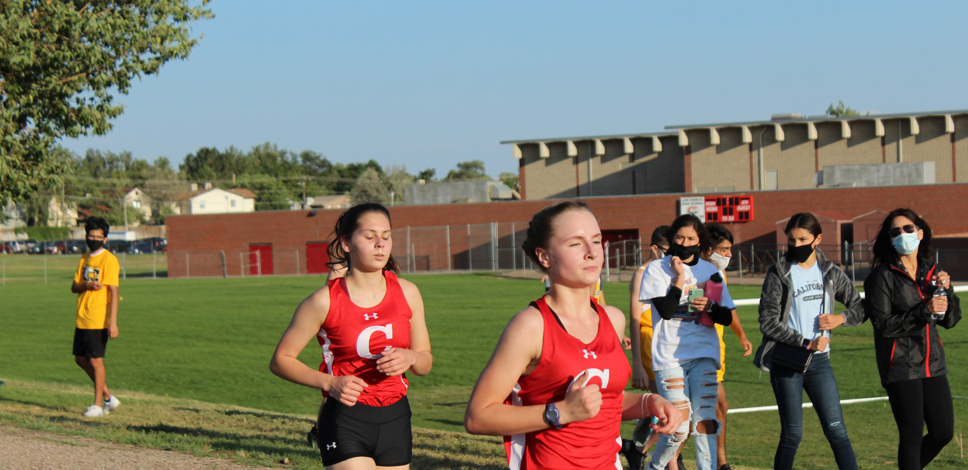 Senior, Claire Sandoval (left) and junio