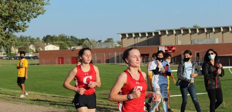 Senior, Claire Sandoval (left) and junio