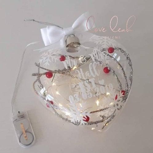 Large Snowflake Heart L.E.D Light up Christmas Decoration