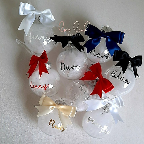 Feather Name Bauble