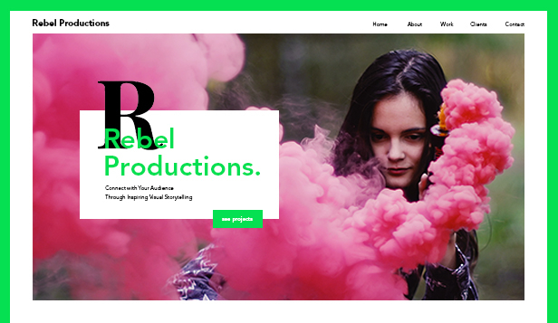 Video website templates – Videoproduktionsbolag