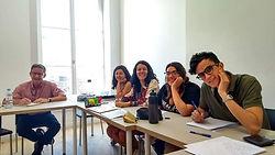 Students having language courses in France Langue Lyon