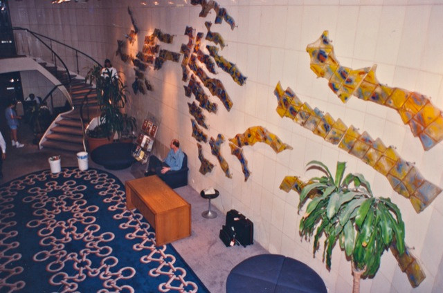 "The ""Love Boat"" lobby in the 1980s."