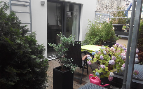 Terrasse vor dem Wohnraum (II)