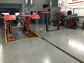 Mechanic shop floor coating Calgary, Alberta