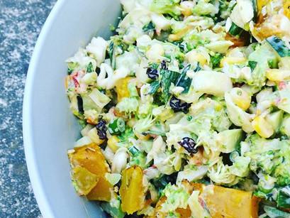 Broccoli & roasted pumpkin salad