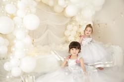 ドレス 3歳 7歳 姉妹写真 七五三 おしゃれ 写真