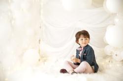 七五三 5才 五歳 スーツ バルーン おしゃれ 写真