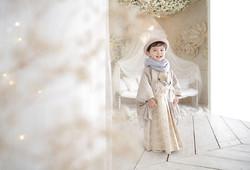 七五三フォト 5歳 袴 はかま 男の子着物
