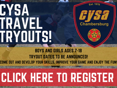CYSA Tryout Registration Now Open!