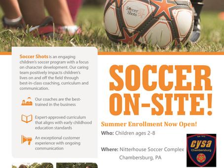 Soccer Shots Soccer Program!