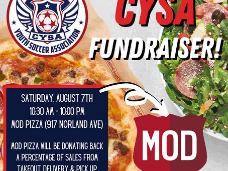 CYSA MOD Pizza Fundraiser!