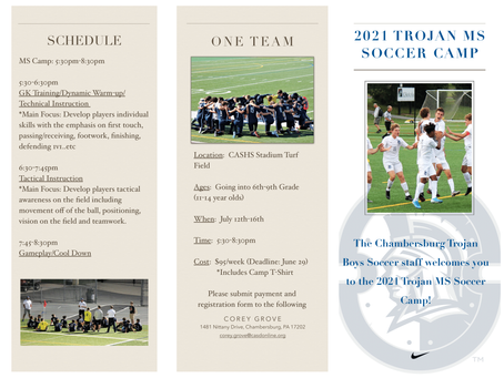 2021 Summer Camps NOW POSTED!
