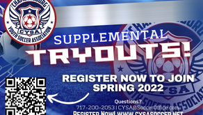 CYSA Tryouts For the Spring 2022 Season!