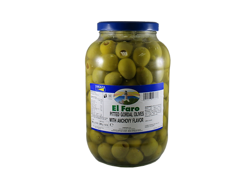 El Faro Pitted Gordal Olives with Anchovy flavor