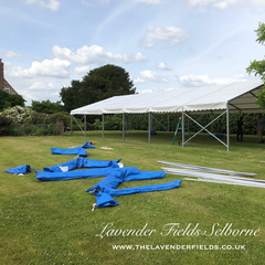 Marquee Build Lavender Fields Selborne, Hampshire June 2018.png