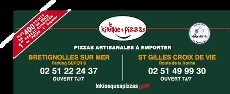 Panneau KIOSQUE A PIZZAS Basket Les Moue