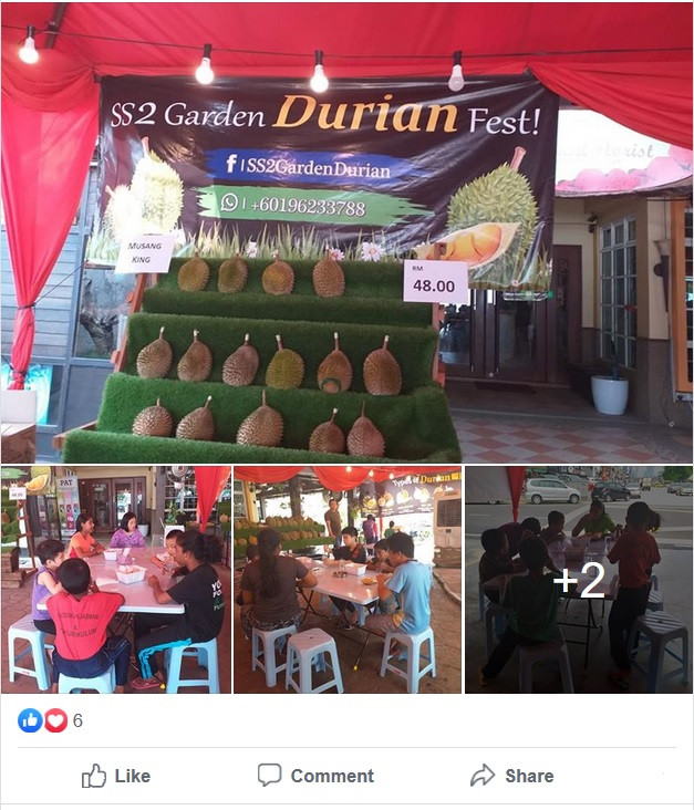 PPKKCTM SS2 Garden Durian Fest Charity