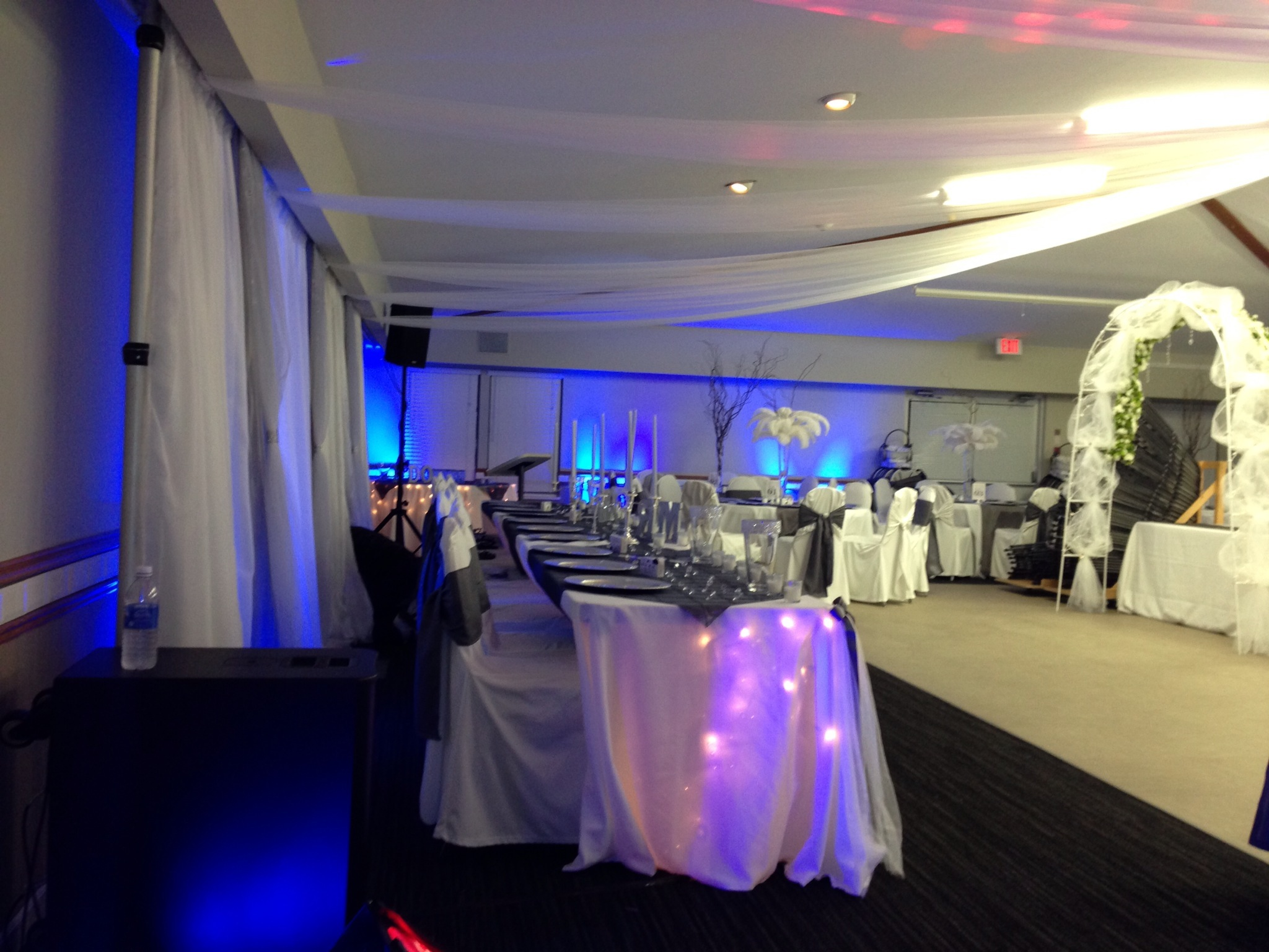 Setting up decor