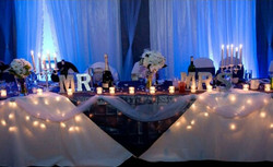 Head Table with the uplighting