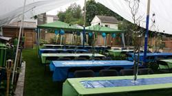 Back yard Grad party