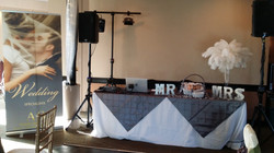 Table at Bridal Fair