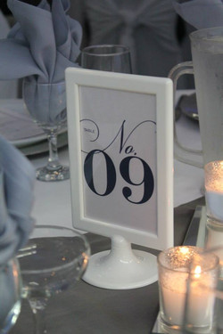 Table numbers for rent
