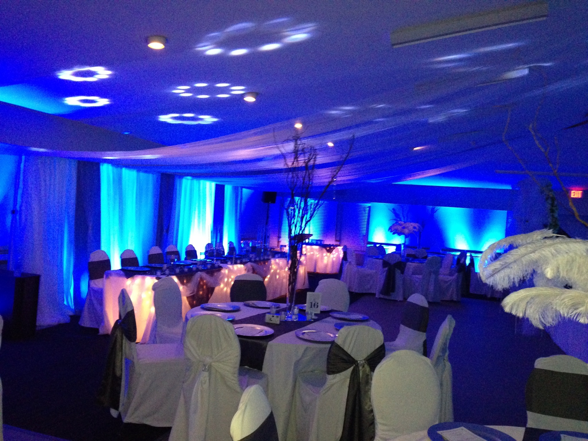 Decor set up with uplighting