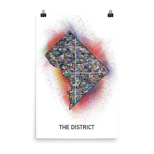 DC Mural Poster - Paint Splatter Version