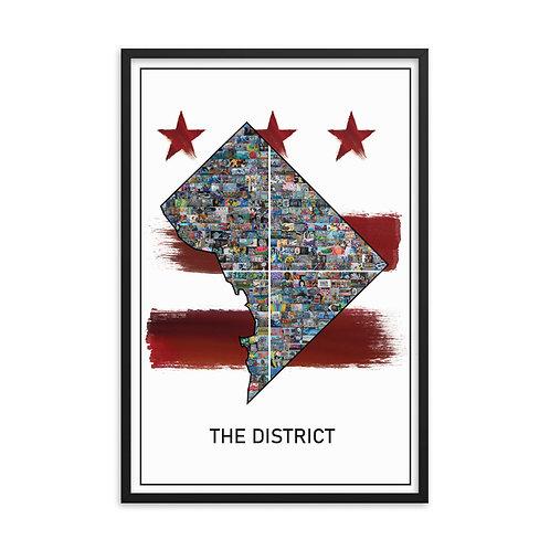 Framed DC Mural Poster - Flag Version