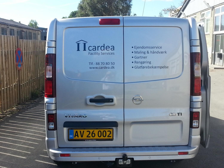 Cardea bil klar til en ny arbejdsdag
