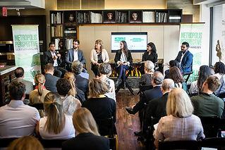 Varun participates in a panel discussion during Metropolis Magazine's Sustainability Summit.
