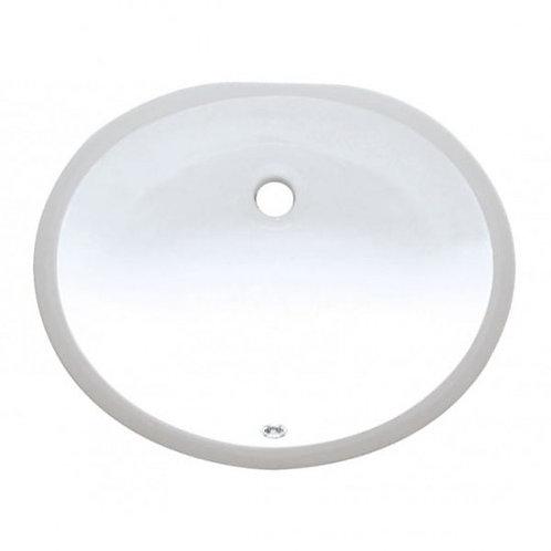 600-w Oval White Vanity Sink