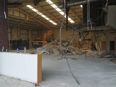 Soft Strip Demolition to former DFS in Bristol