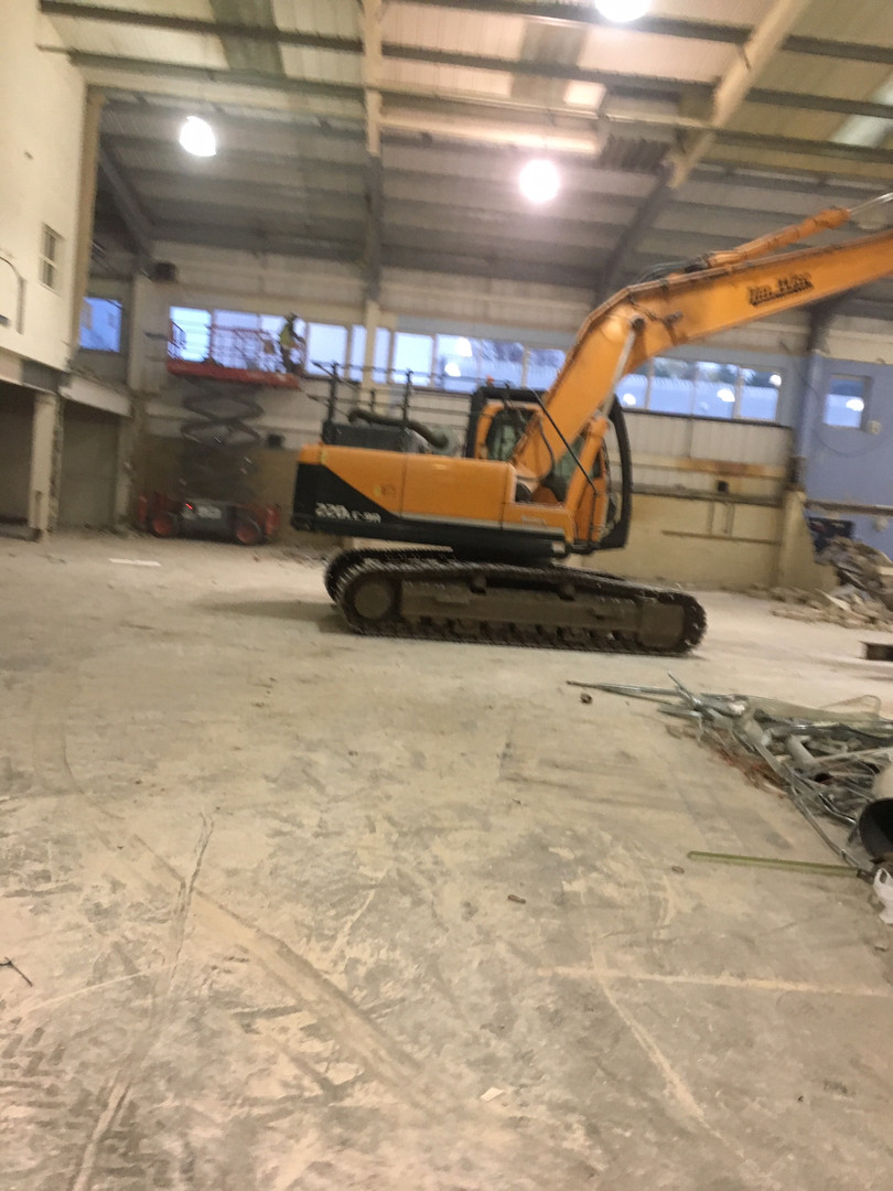 Soft strip demolition for a warehouse in kent..JPG