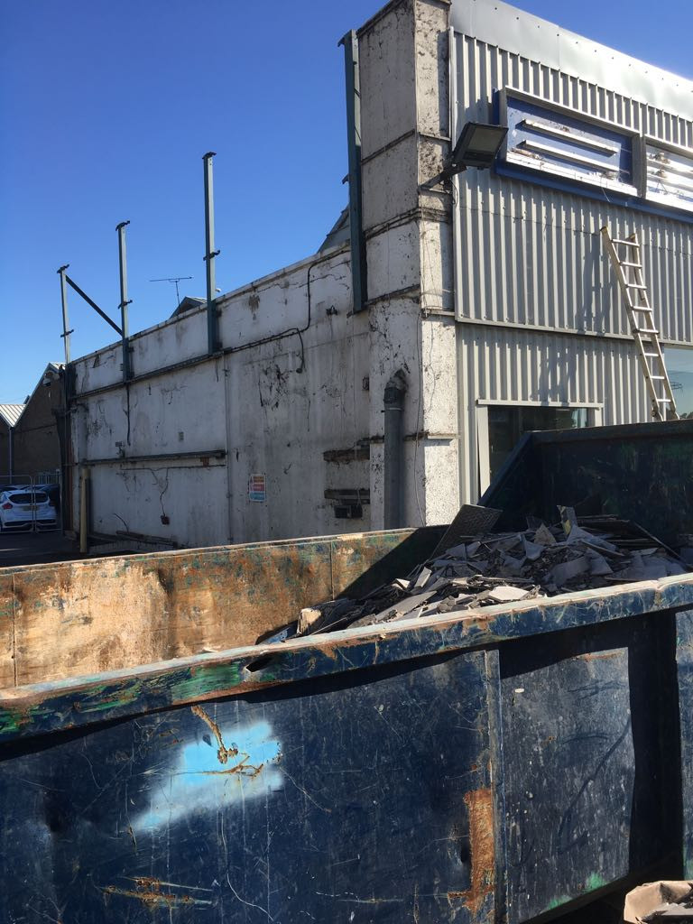 soft strip demolition of a Trust Ford Car Dealership Staines.JPG