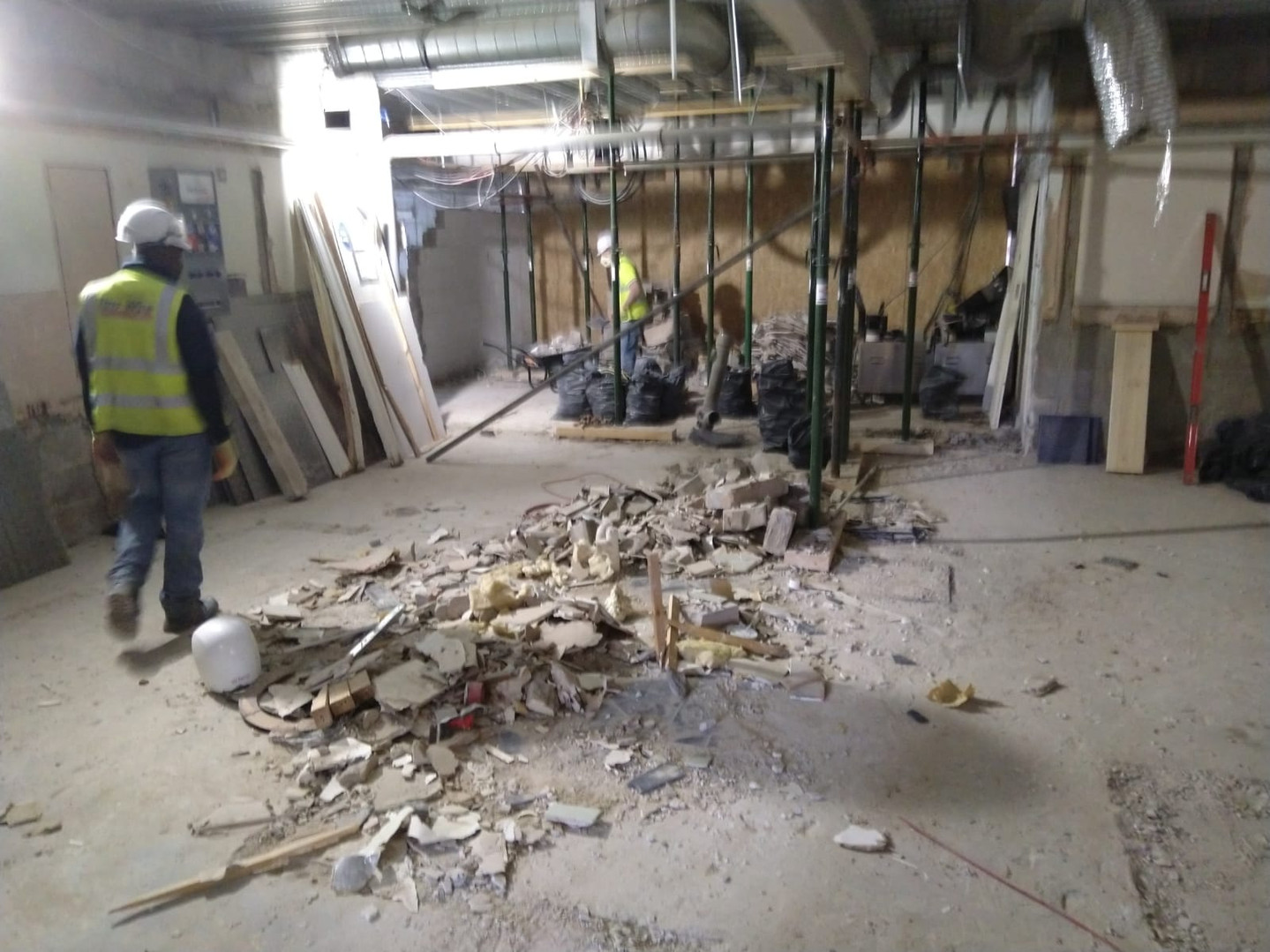 Soft strip demolition of a Wetherspoons, Bridlington..JPG