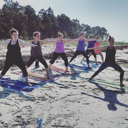 Beach yoga $15_Monday through Friday at