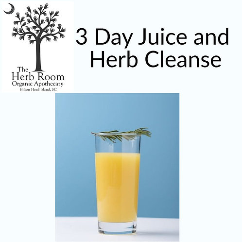 3 Day Juice and Herbal Cleanse