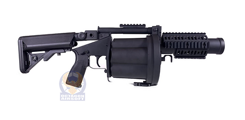 LDT MGL Grenade Launcher with Retractable Stock - Black