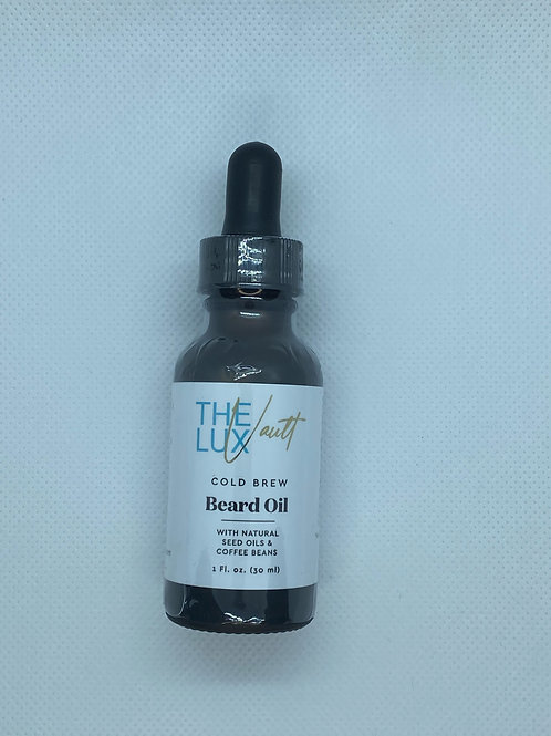 The Lux Vault Cold Brew Beard Oil