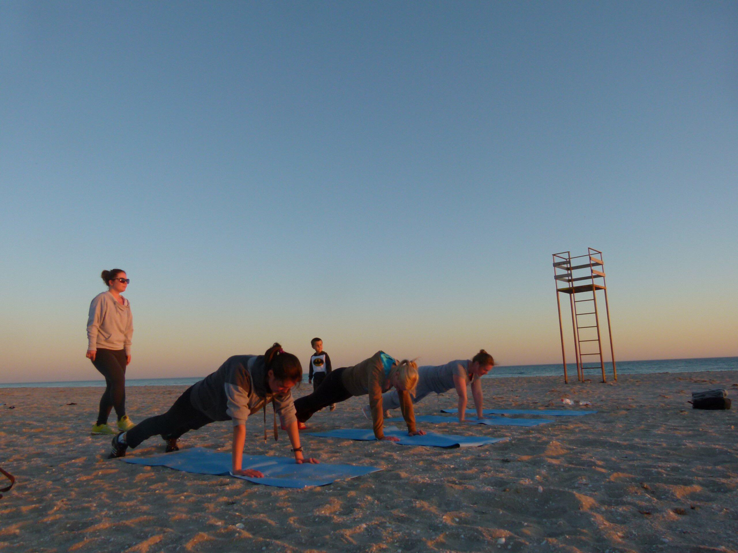 Фитнес на море